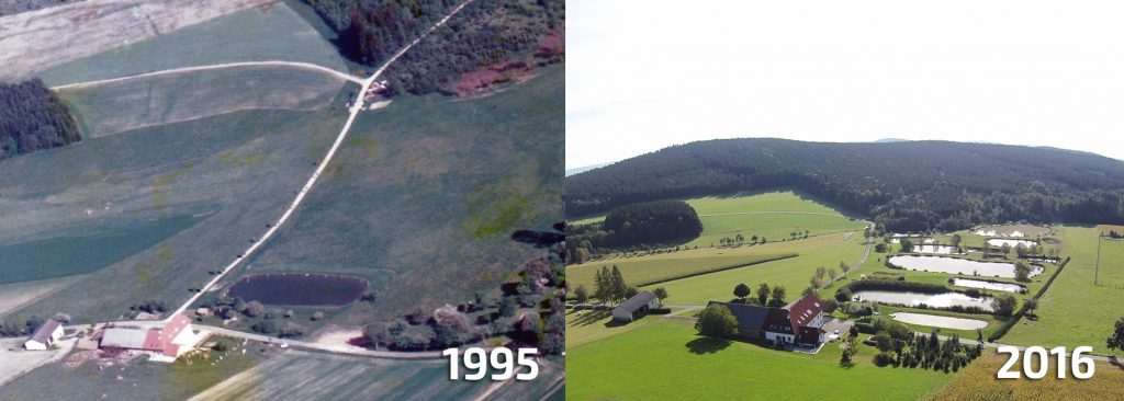 Vergleich Teichanlage 1995-2016