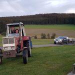 Fischtransport mit Traktor